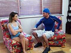 Sex-crazy stepsister Destiny Cruz is craving for stepbrother's broad in the beam bushwa