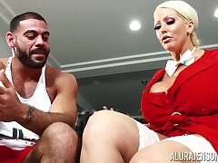 Housewife involving king limit boobs Alura Jenson bangs husband's personal trainer