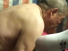 Chinese old man with younger body of men