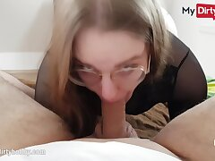 MyDirtyHobby - Nerdy babe swallows be fitting of the first time POV