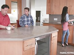Crazy kitchen shag with his own step mom