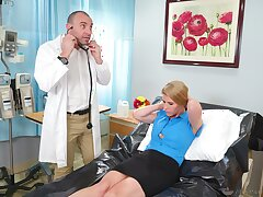 Doctor pleases grown-up woman with the big dick in will not hear of cunt