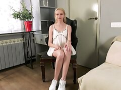 Young 19 yo blonde Loisa is the feeling fucking wet tight-fisted pussy