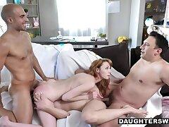 Slutty Bunnies Cecelia Taylor And Katie Kush Suck On Their Stepdaddies Dicks