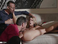 Appealing get hitched cuckold fucked in merciless modes