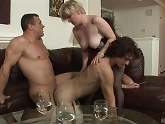 Needy action for a pair of bi-sexual lovers and a mature
