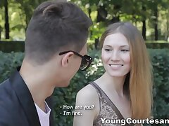 Young courtesan distance from Russia Mia Reese gets intimate yon her new client