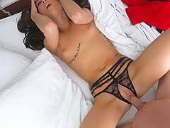 London Lynn in Leggy Brunette's Vacation Sex Tape - IKnowThatGirl