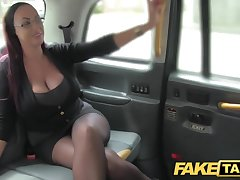 Fake Taxi Enchase looking lady with huge tits increased by wet puss