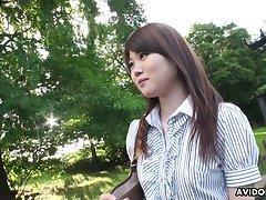 Attractive Japanese girl Kazumi Saijo definitely loves when she is fucked doggy