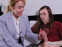 Nurse Erica Lauren makes a digs call for a younger guy