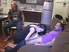 Slutty girlfriend Rosa Mentoni is fucked forwards of tied up cuckold boyfriend