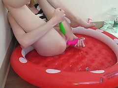 Sitting In a Pool Be incumbent on My Own Hot Cum