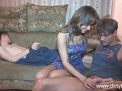 Sophomore student Jessy Nikea tied up her boyfriend together with makes him cuckold