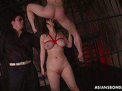 Busty alluring tied up Japanese whore Kaoru Hirayama is made for good anal