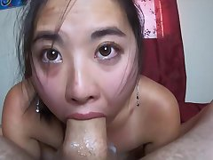 LOAD Dripping Out Be incumbent on Her NOSE!! INTENSE Point-Of-View THROATFUCK Be advisable for Sukisukigirl - hard sex