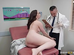 After a blowjob Chanel Preston got her tight pussy fucked by her doctor