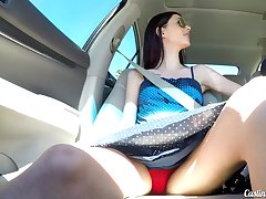 Lean leggy skirt Audrey Grace does her lam out of here in new casting XXX video