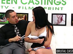 Dark haired dutiful damsel Alaina Kristar is affianced and brutally fucked
