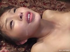 Oto Sakino spreads will not hear of legs for a friend's firm cock on slay rub elbows with floor