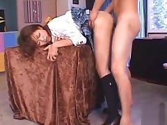 Clever oriental schoolgirl