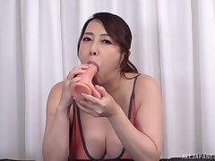 Japan mam shows really hot skills of sucking the dick