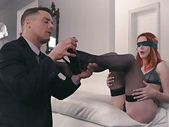 Dude connected with weird fetish fucks lovely red head flatland pantyhose Lacy Lennon