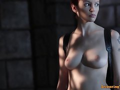 Fantasy mating scene regarding hot busty model