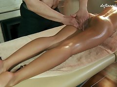 Libidinous virgin Masha Roofkina gets her pussy massaged together with altogether satisfied