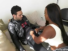 Beamy blackguardly chick Jayden Starr is fucked hard by white cocky toff