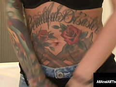 Tattooed Hottie Lily Trip Butt Banged By Anal Pain Cock!