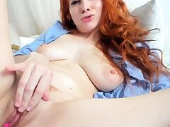 One of synonymous accustom oneself to up masturbation of a sexy redhead