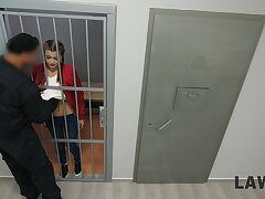 Utterly mind-blowing prison chamber threeway bonk with Cindy Shine