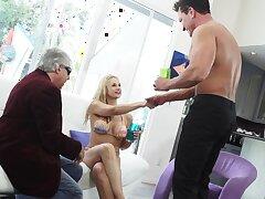 Porn producer is watching Marko Banderas shafting titillating busty blonde Sarah Vandella